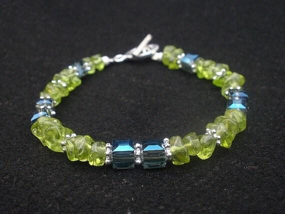 Peridot 925 Sterling Silver Bracelet