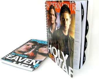 Supernatural 2016 2017 Daily Planner / Calendar UpCycled Sam Dean Winchester (Multiple Cover Choices Available)