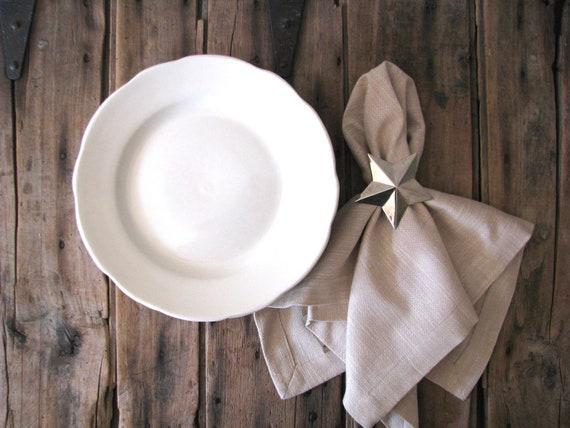restaurantware white lunch plates - farmhouse chic table settings