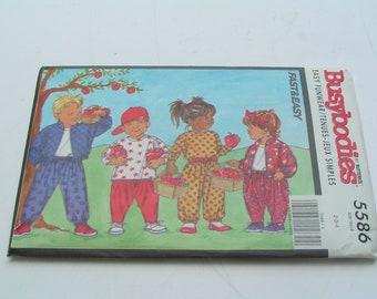 Vintage Butterick Busybodies Pattern 5586 Child Jacket Top Pants
