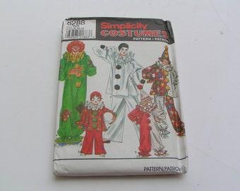 Vintage Simplicity Pattern 8288 Costume Boys Girls Clown Hat