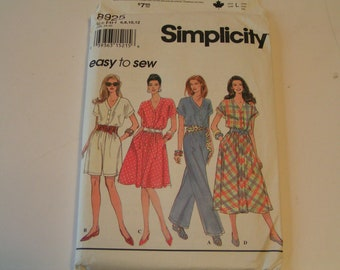 Simplicity Pattern 8925 easy to sew Miss Petite Dress Jumpsuit
