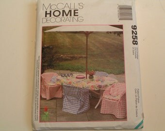 McCalls Home Decorating Pattern 9258 Patio Covers