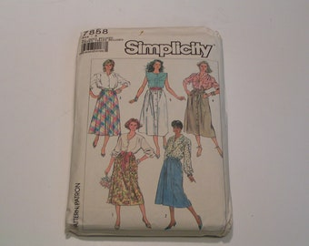 Vintage Simplicity Pattern 7858 Miss Easy to Sew Skirt