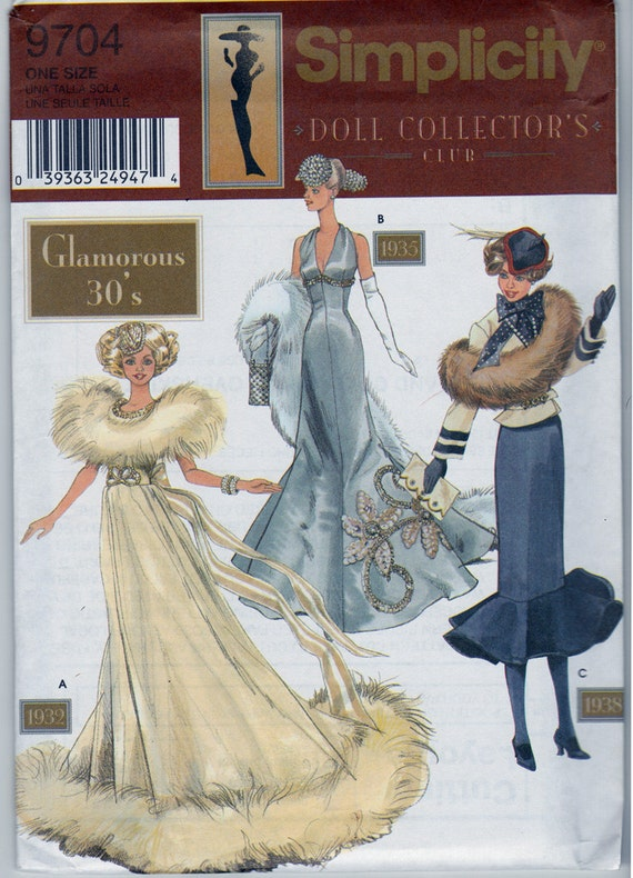 Pattern: Doll Collectors Club Glamorous 30's  11.5 Fashion Dolls