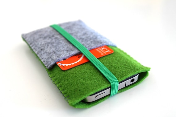 iPhone 5, iPhone 4/ 4S Sleeve  with Card holder with elastic band