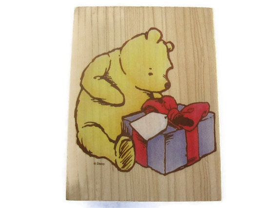 "Rare Classic Pooh Stamp: ""Pooh's Present"" by All Night Media"