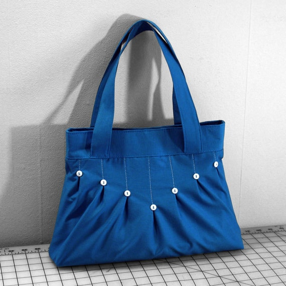 The Raindrop Bag in Bright Blue