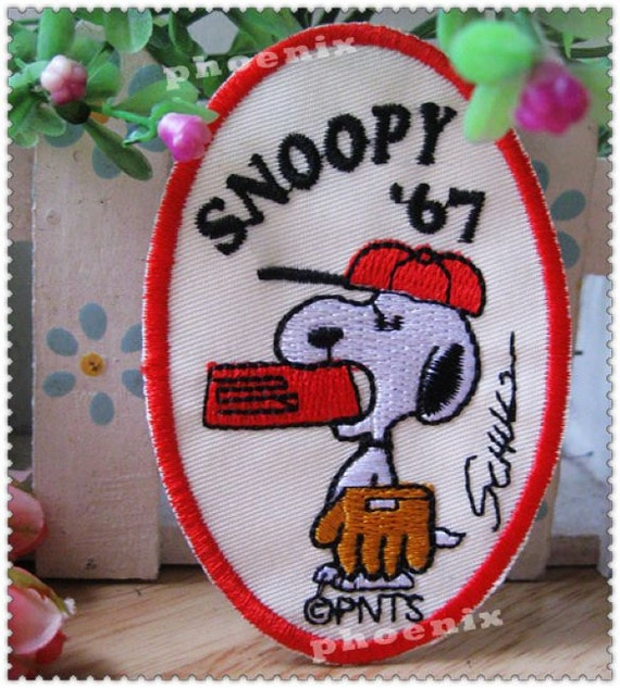 Embroidery Applique- SNOOP is  playing the ling ball (1pcs)
