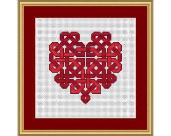 Celtic Knotwork Heart - PDF Cross Stitch Chart