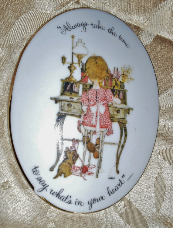 Retro 1960s  Icon Holly Hobby Plaque Oval