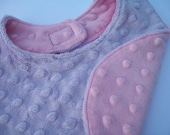 Pastel Princess Pink & Purple Double Minky Reversible Bib