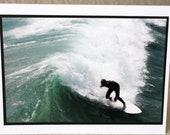 photo card, surfer, ocean , Huntington Beach, California