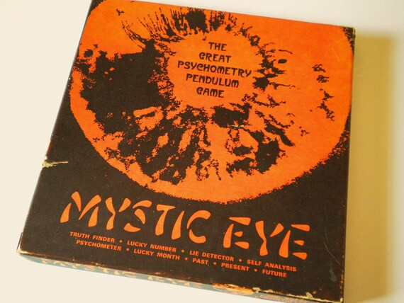 See the Future Vintage Mystic Eye Fortune Telling Game