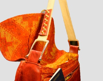Awesome Handmade Ox Blood red steampunk Leather bag
