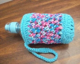 Bobble Bottle Holder Cozy Carrier - Water Bottle Holder Cozy Carrier - Handmade Crochet