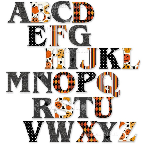 Gutsy image for halloween letters printable