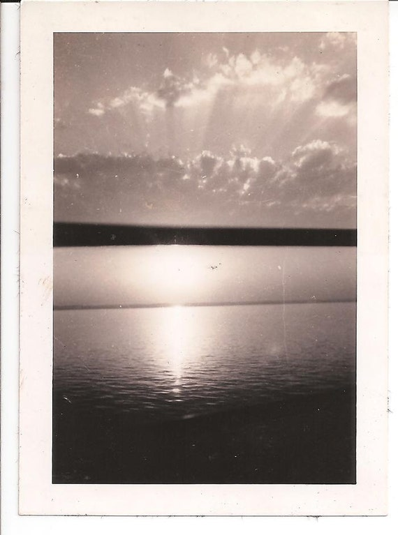Antique Photograph of a Sunset
