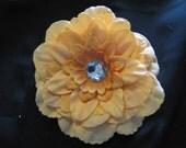Large Peach Peony Flower Hair Clip