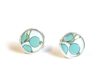 Tiny stud earrings botanical floral stud earrings - small earring studs