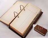 Unique Vintage Ledger with Wood Covers to Use As Is or Take Apart and Make Several Different Journals, Altered Books and More Creations