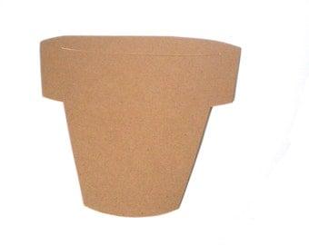 Large Flower Pot Die Cut Cardstock
