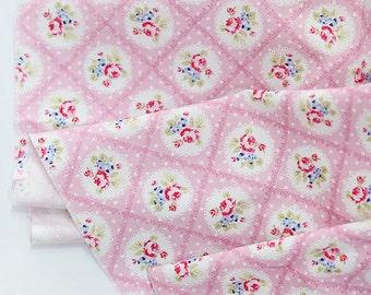 Cotton Fabric Falling In Love Pink per Yard 24991