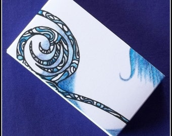 Earring Cards / Boxes - Blue Swirl (20)
