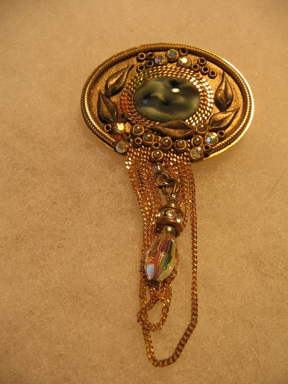 Vintage Marena West Germany Brooch Costume Jewelry Pin Item
