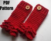 Crochet legwarmer pattern, crochet leg warmer, Ruffles legwarmer, newborn to 2 years - Pattern No. 23