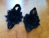 Black Baby Barefoot Sandals, Newborn, Baby, Infant, Toddler Sizes Available