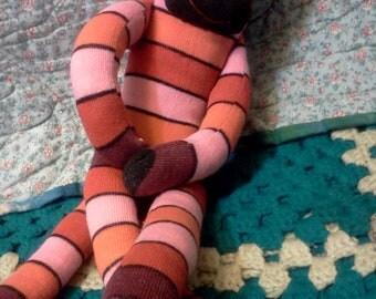 Sock monkey plush children's toy