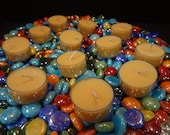 Patchouli One Dozen Tea Lights plastic cups All Natural Soy Candle created by Simple Aromas