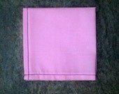 "Pink Cotton Pocket Square w/ Navy Blue Contrast Stitching - ""Tickled Pink"""