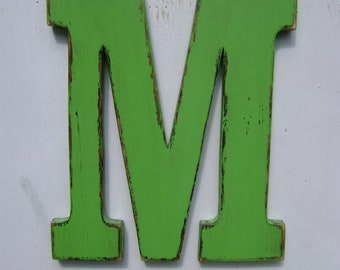 Rustic Wooden Letter Initials Nursery Decor wall hanging Home decor 12 Inch wood letters