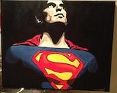 Superman handmade painting 16x20