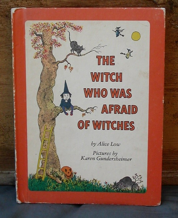 reserved for jessica the witch who was afraid of witches vintage childrens book by alice low. halloween book. cute witch illustrations.1978