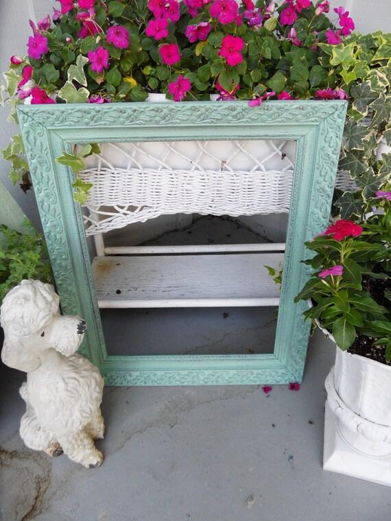 Soooo Shabby Chic Large Ornate Wood Frame Wonderful Cottage Charm
