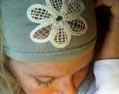 Mint Green Flower Headband