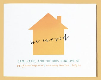 Change of Address Postcard, Moving Announcement - New Home Announcement, Moving Announcement Post Card, Post Card Moving Announcement, House