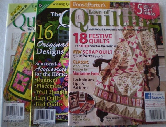 Magazines, Quilting - Love of QUILTING - The QUILTER Magazine - Quiltmaker, Festive Quilts, Scrap Quilt, Quilted Holiday Cards