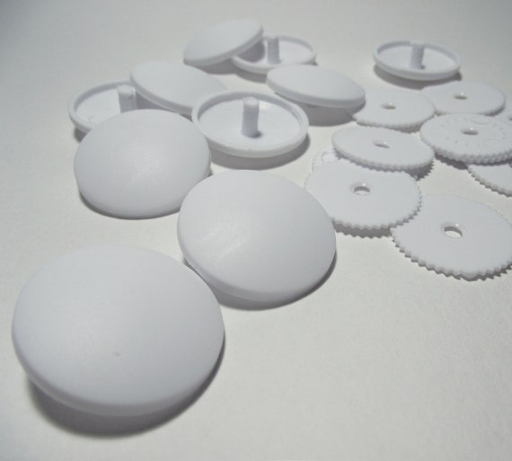 Plastic self cover buttons. Large 29mm / 1.14 inch. Pack of 10
