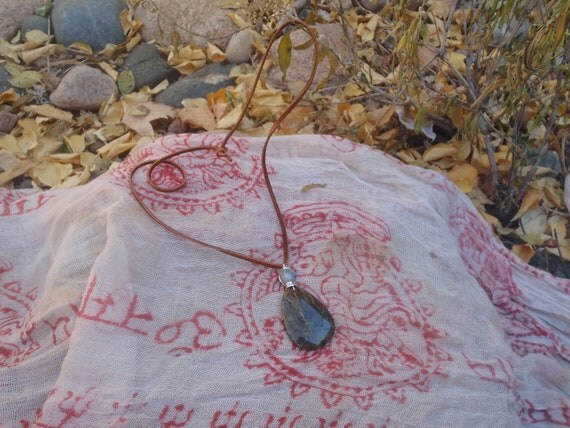 transformation... labradorite and agate necklace