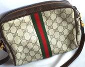 80s Vintage, Gucci, handbag, cross body bag, purse