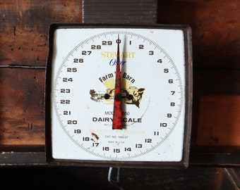 Vintage dairy scale, Oster Farm N Barn Dairy Scale, model 8050