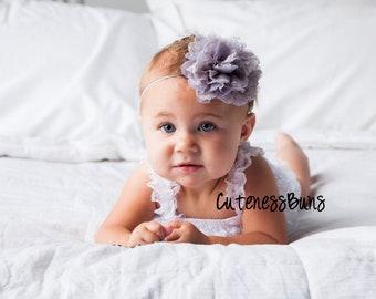 Baby Headbands, Baby Girl Headband, Baby Bows Headband, Infant Headband, Headband, Head band, Grey Headband