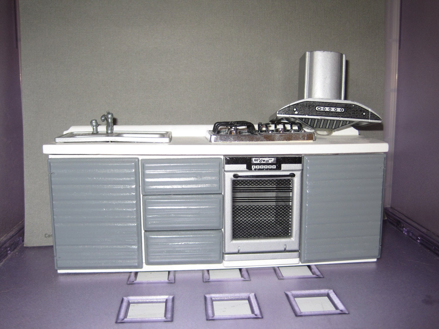 Modern dollhouse kitchen set for Kitchen set aluminium modern