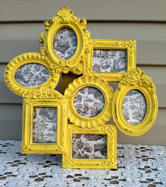 Bold Yellow French Frame Cluster