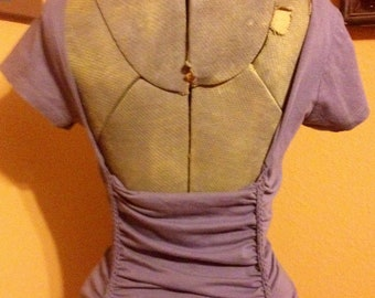 Corset inspired backless custom cut tshirt