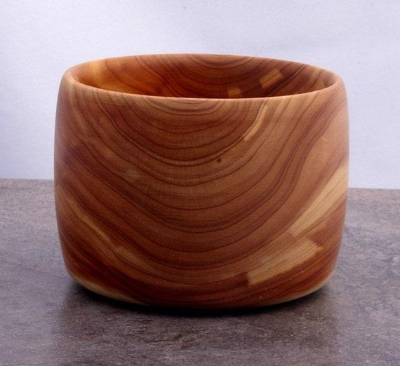 Hand turned smal Eastern Red Cedar bowl